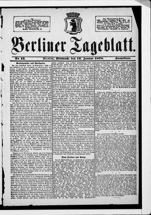 Berliner Tageblatt und Handels-Zeitung vom 16.01.1878