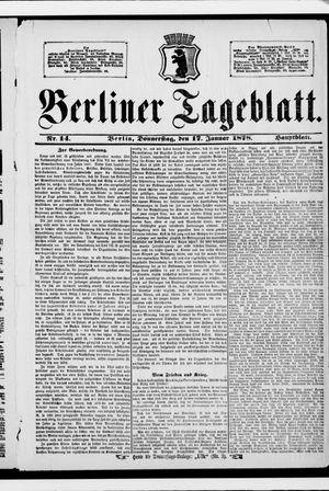 Berliner Tageblatt und Handels-Zeitung vom 17.01.1878