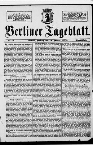 Berliner Tageblatt und Handels-Zeitung vom 18.01.1878