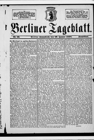 Berliner Tageblatt und Handels-Zeitung vom 19.01.1878