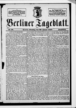 Berliner Tageblatt und Handels-Zeitung vom 22.01.1878