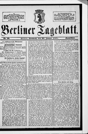 Berliner Tageblatt und Handels-Zeitung vom 23.01.1878