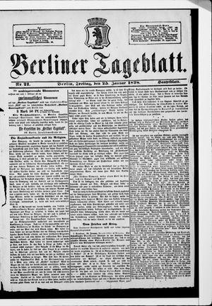 Berliner Tageblatt und Handels-Zeitung vom 25.01.1878