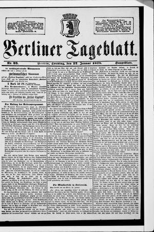 Berliner Tageblatt und Handels-Zeitung vom 27.01.1878