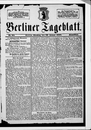Berliner Tageblatt und Handels-Zeitung vom 29.01.1878