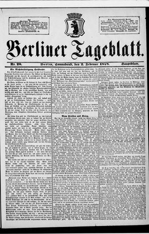 Berliner Tageblatt und Handels-Zeitung vom 02.02.1878