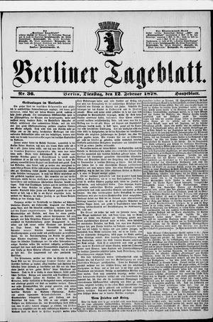 Berliner Tageblatt und Handels-Zeitung vom 12.02.1878