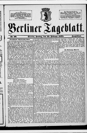 Berliner Tageblatt und Handels-Zeitung vom 15.02.1878
