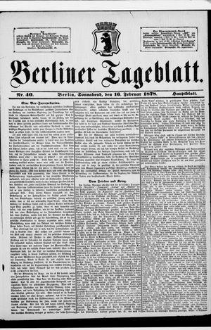 Berliner Tageblatt und Handels-Zeitung vom 16.02.1878
