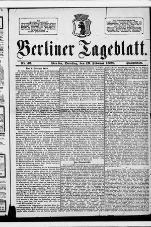 Berliner Tageblatt und Handels-Zeitung vom 19.02.1878