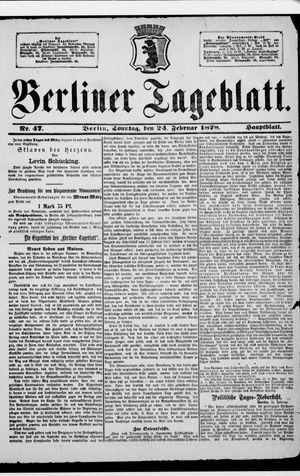Berliner Tageblatt und Handels-Zeitung vom 24.02.1878
