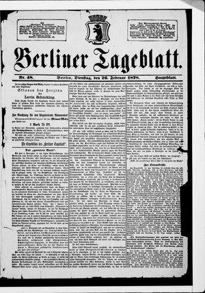 Berliner Tageblatt und Handels-Zeitung vom 26.02.1878