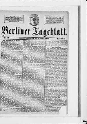 Berliner Tageblatt und Handels-Zeitung vom 02.03.1878