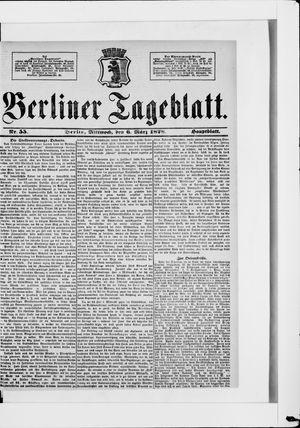 Berliner Tageblatt und Handels-Zeitung vom 06.03.1878