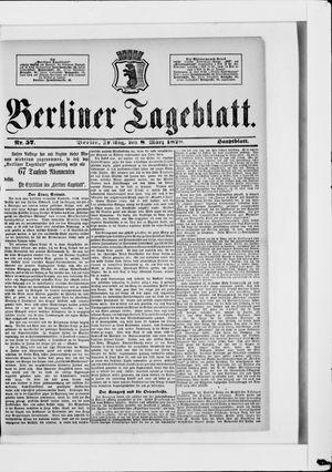 Berliner Tageblatt und Handels-Zeitung vom 08.03.1878