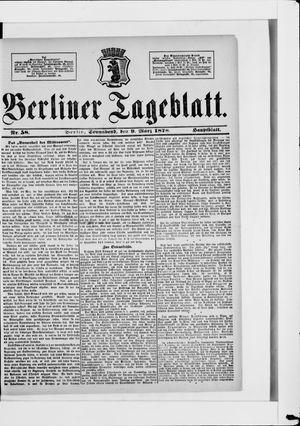 Berliner Tageblatt und Handels-Zeitung vom 09.03.1878