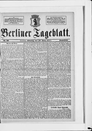 Berliner Tageblatt und Handels-Zeitung vom 10.03.1878