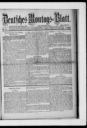 Berliner Tageblatt und Handels-Zeitung vom 11.03.1878