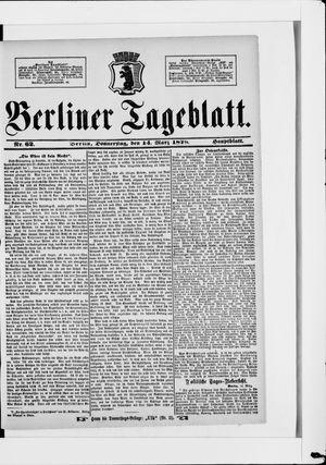 Berliner Tageblatt und Handels-Zeitung vom 14.03.1878