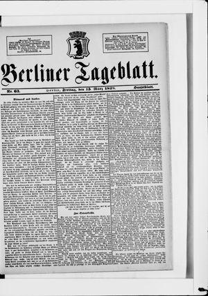 Berliner Tageblatt und Handels-Zeitung vom 15.03.1878