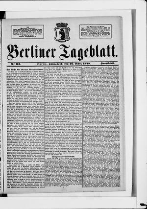 Berliner Tageblatt und Handels-Zeitung vom 16.03.1878