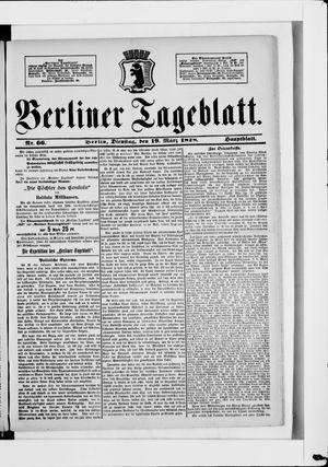 Berliner Tageblatt und Handels-Zeitung vom 19.03.1878