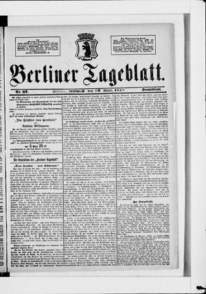 Berliner Tageblatt und Handels-Zeitung vom 20.03.1878