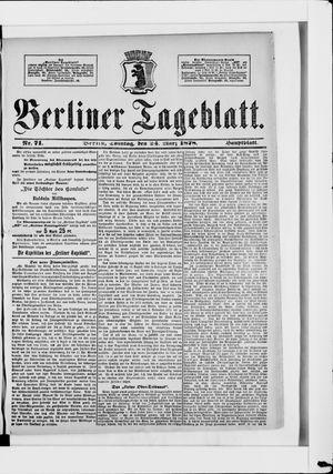 Berliner Tageblatt und Handels-Zeitung vom 24.03.1878