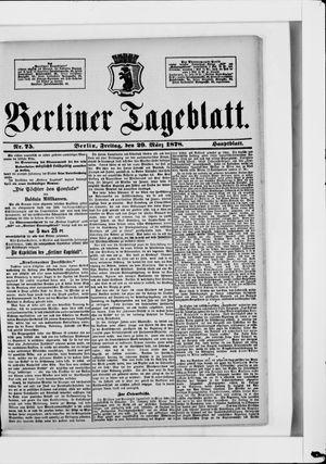 Berliner Tageblatt und Handels-Zeitung vom 29.03.1878