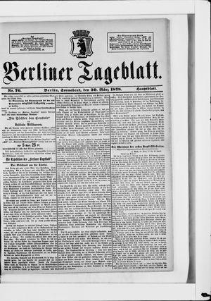 Berliner Tageblatt und Handels-Zeitung vom 30.03.1878