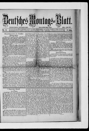 Berliner Tageblatt und Handels-Zeitung on Apr 1, 1878