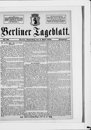 Berliner Tageblatt und Handels-Zeitung vom 04.04.1878