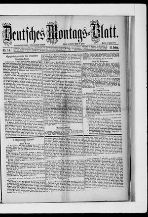 Berliner Tageblatt und Handels-Zeitung vom 08.04.1878
