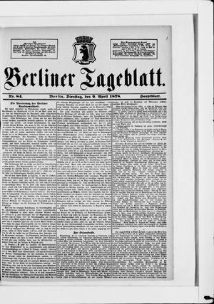 Berliner Tageblatt und Handels-Zeitung vom 09.04.1878