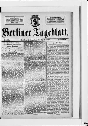 Berliner Tageblatt und Handels-Zeitung vom 12.04.1878