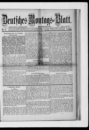 Berliner Tageblatt und Handels-Zeitung vom 15.04.1878