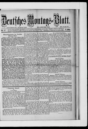 Berliner Tageblatt und Handels-Zeitung vom 29.04.1878