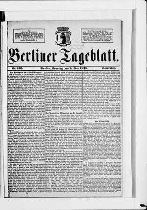 Berliner Tageblatt und Handels-Zeitung vom 05.05.1878