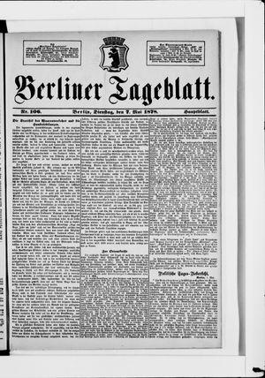 Berliner Tageblatt und Handels-Zeitung vom 07.05.1878
