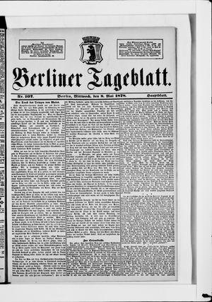 Berliner Tageblatt und Handels-Zeitung vom 08.05.1878