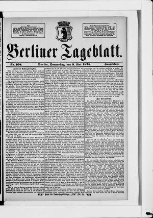 Berliner Tageblatt und Handels-Zeitung vom 09.05.1878
