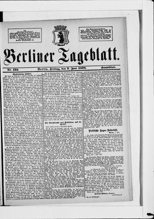 Berliner Tageblatt und Handels-Zeitung vom 07.06.1878