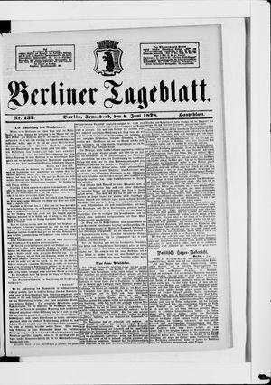 Berliner Tageblatt und Handels-Zeitung vom 08.06.1878