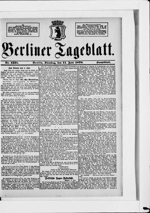 Berliner Tageblatt und Handels-Zeitung vom 11.06.1878