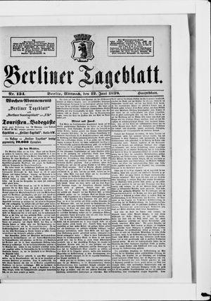 Berliner Tageblatt und Handels-Zeitung vom 12.06.1878