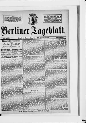 Berliner Tageblatt und Handels-Zeitung vom 13.06.1878