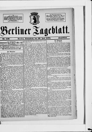 Berliner Tageblatt und Handels-Zeitung vom 29.06.1878