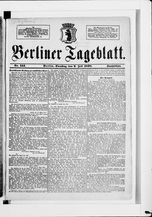 Berliner Tageblatt und Handels-Zeitung vom 02.07.1878