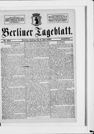 Berliner Tageblatt und Handels-Zeitung vom 05.07.1878
