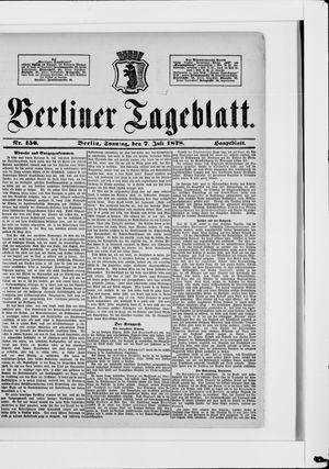 Berliner Tageblatt und Handels-Zeitung vom 07.07.1878